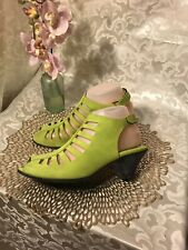 ARCHE ENEXOR GREEN NUBUCK STRAPPY SANDALS 39 US 8M MADE IN FRANCE RTL $355