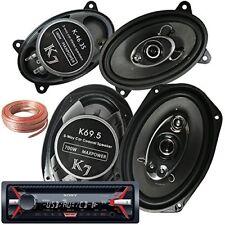 "Sony CDX-G1150U Receiver + Pair Of K7 K-46.3S 4x6"" 180W + K69.5 6""x9"" 700W +Wire"