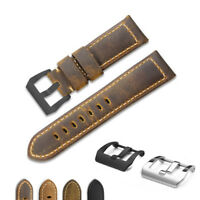 22mm/24mm/26mm Genuine Vintage Calf Leather Wrist Watch Band Strap for Panerai