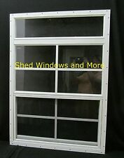 Shed More View Window 24x34 White Flush Playhouse Window Shed Treehouse Window