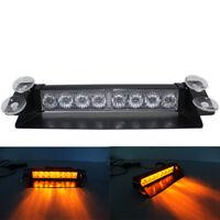 LED 12V CAR AMBER STROBE DASH LIGHT FLASH BEACON EMERGENCY WARNING RECOVERY LAMP