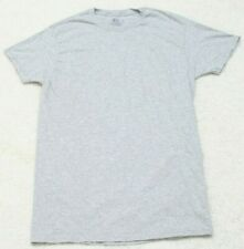 Fruit of the Loom T-Shirt Small Gray Short Sleeve Tee Top CottonPoly Men's Man's