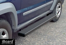 """5"""" Black iBoard Running Boards Nerf Bars Fit 02-07 Jeep Liberty"""