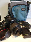 CANON EOS 1100D 12.2MP DIGITAL SLR CAMERA - BLACK WITH LENS EFS 18-55MM