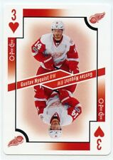 17/18 O-PEE-CHEE OPC PLAYING CARD THREE OF HEARTS GUSTAV NYQUIST RED WINGS 39300