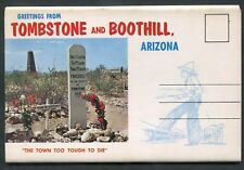 Tombstone Boothill Arizona az Gunslingers chrome postcard folder