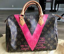 Pre-Loved Louis Vuitton Monogram V Speedy 30 Grenade Pink *Limited Edition*