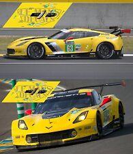 Calcas Chevrolet Corvette C7R Le Mans 2017 1:32 1:24 1:43 1:18 C7 R slot decals