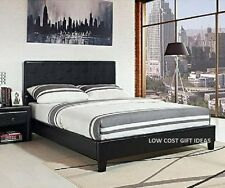 california king bed frame size complete platform black faux leather headboard