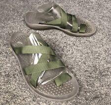 504a15db3d3d Teva 6518 Green Slides Sport Strapy Toe Loop Sandals Women s Sz 7 In EUC