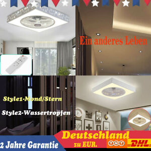 Modern Deckenventilator mit Beleuchtung Fan LED Licht Dimmbar APP Fernbedienung