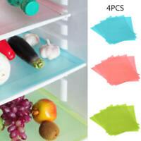 4x Refrigerator Fridge Mat Pad Drawer Liners Washable Kitchen Waterproof Shelf.