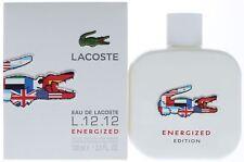 Eau de Lacoste L.12.12 Energized by lacoste cologne EDT 3.3 / 3.4 oz New in Box