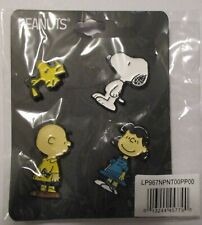 Peanuts Set of 4 Lapel Pins Charlie Brown Snoopy Lucy Woodstock New