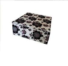 Upholstered Ottoman Lounge storage Box Toy chest Large Poufe foot stool designer