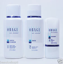 Obagi Nu-Derm Kit of 3 for Normal to Dry Skin, Gentle Cleanser, Toner, Exfoderm