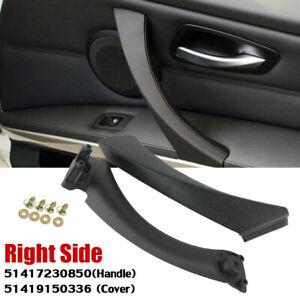 Right Inner & Outer Door Panel Handle Pull Trim Cover For BMW 3 Series E90 E91