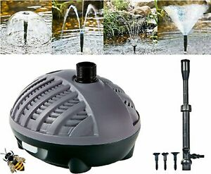 Pond Pump Fountain Attachment Waterfall Submersible ECO 1000 - 3000Ltr 10m Cable