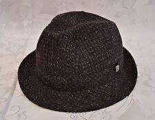 FRANCE-VINTAGE AUTHENTIC WOOL BLEND MEN'S FEDORA HAT SIZE:US7 1/4;EU58