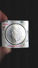 CHOICE MORGAN SILVER DOLLAR COLLECTION 1878 7 OVER 8 FEATHER USA SILVER COINS