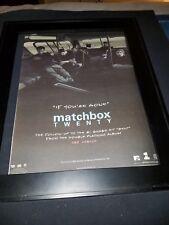 Matchbox Twenty If You're Gone Rare Original Radio Promo Poster Ad Framed!