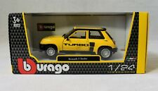 Bburago Renault 5 Turbo Yellow 1:24 Scale die-cast Model Car