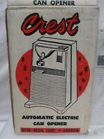 RARE VINTAGE CREST ROTO BROIL CORP OF AMERICA AUTOMATIC ELECTRIC CAN OPENER...