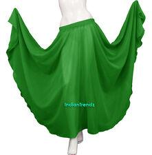 Black - Chiffon Full Circle Skirt Belly Dance Tribal Gypsy 9 Yard Flamenco JUPE