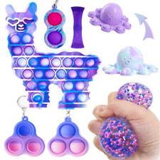 6 Pack Fidget Toys Set Sensory Bubble Popet Simple Dimple Stress Relief Autism
