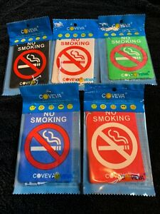 75 Assorted Coveva No Smoking Hanging Air Fresheners Car TaxiVan Wash Valet Bulk