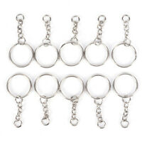 50PCS 25mm Polierter Schlüsselring Schlüsselbund Ring Kurzkettige Schlüsselr  wv