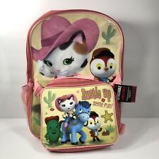 Disney Sheriff Callie Backpack Detachable Lunch Pack School Bag Pink 2 pc Set