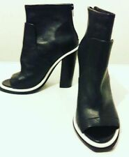 Topshop Block Patternless 100% Leather Heels for Women