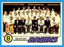 1977-78 Topps BOSTON BRUINS Team Card (vg-ex)