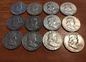 1948-1963 Ben Franklin Half Dollar 90% Silver