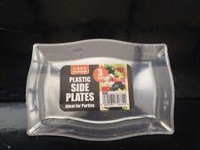 6 X sirviendo Placa/Plato de plástico transparente 22 X 16 Cm para servir Shering