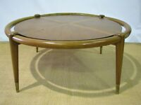 Mid-Century Coffee Table by John Widdicomb in the Style of Robsjohn-Gibbings