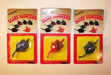 Vintage 1970's Set of 3 Scary Scooters Monsters Friction Toys