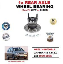 Para Opel Zafira 1.6 1.8 2.0 2.2 1999-2005 1x Cojinete de Rueda Del Eje Trasero