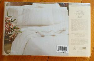 Crown Craft Royal Sateen Kitan Beige Egyptian Cotton Twin Flat Sheet