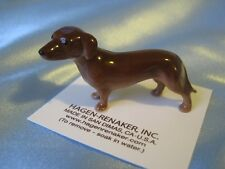 Hagen Renaker Dog Dachshund Figurine Miniature 00347 Porcelain Ceramic New