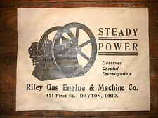 "(689) VINTAGE REPRINT ADVERT RILEY HIT & MISS GAS ENGINE DAYTON OHIO 11""x14"""