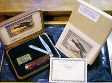 Schrade DS16 Bone Trapper Ducks Unlimited Set W/Packaging,Papers,Federal Label