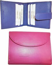 Lot of 2 New Woman's Compact Wallet 8 Credit Cards ID Bi-fold change purse bnwt