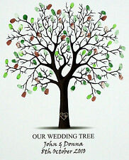 Personalised Fingerprint Wedding Tree Signing Board -Guest Book Alternative