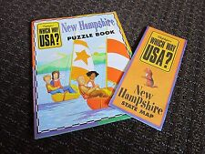 New Hampshire Travel Activity Book Info History Educational Puzzles Games