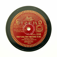 """FRED & LESLIE DOUGLAS """"That's All That Matters To Me"""" (E+) STERNO 1238 [78 RPM]"""