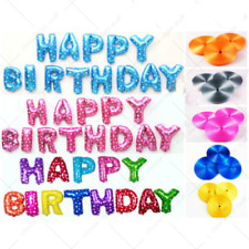 Festone Happy Birthday Set Palloncini Gratis 10 Metri Nastro Festa Venditore UK