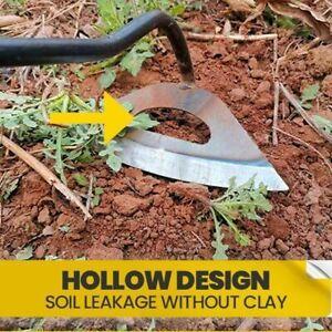All-steel Hardened Hollow Hoe Handheld Weeding Rake Planting Vegetables Farm NW1