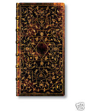 Paperblanks Brown Gold Foiled Grolier Address Book Slim Size 3X7  New